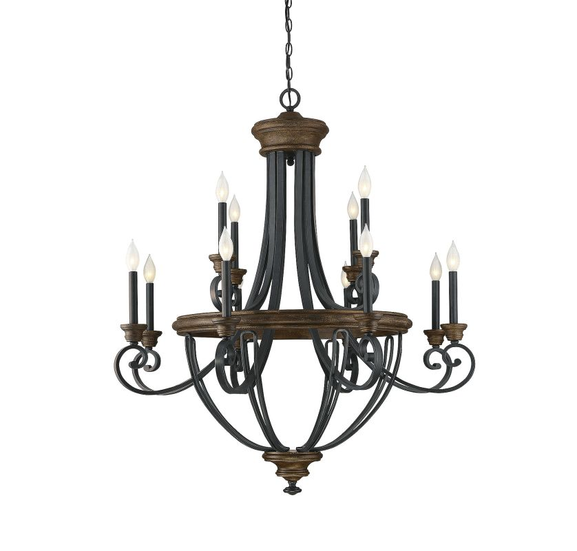 Savoy House 1 9530 6 196 Reclaimed Wood Chandelier