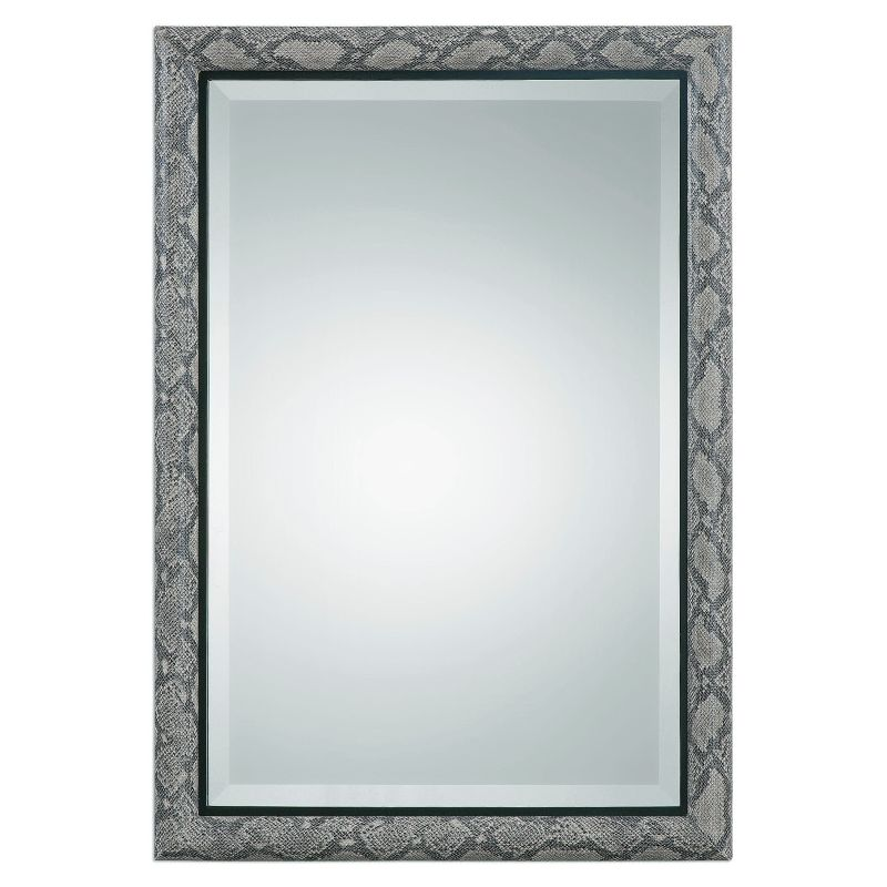 Uttermost 14487 Antiqued Bevel Mirror Framed With Aged