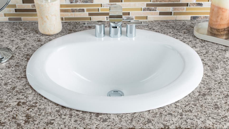 Best Bathroom Sink For Your Budget - Drop in bathroom sink installation