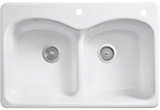 Two hole sinks