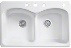 Four hole sinks