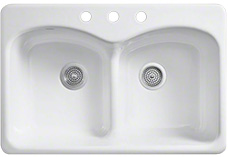 Three hole sinks