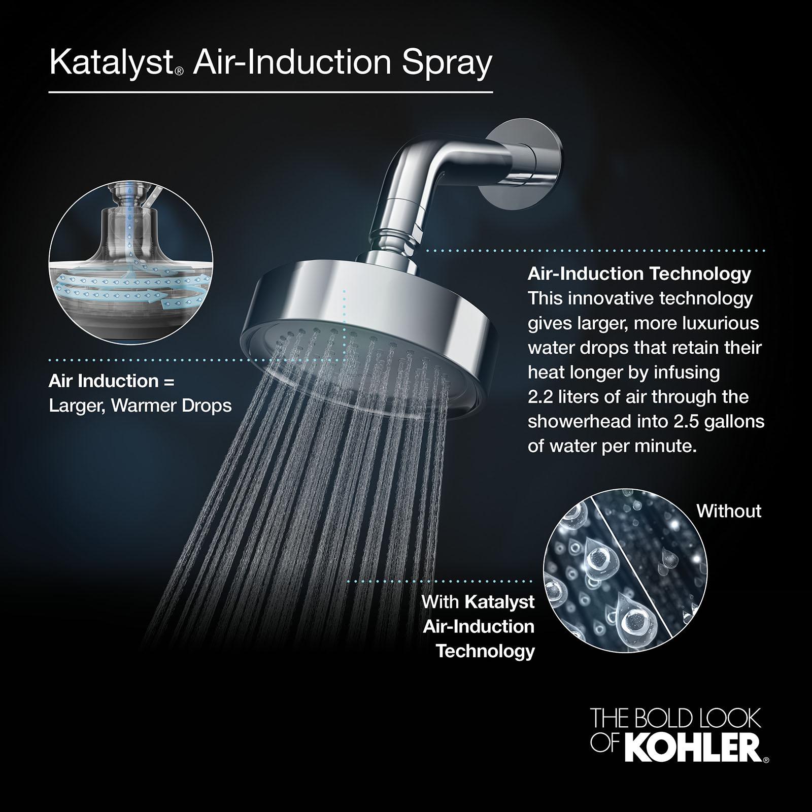 Kohler 5240 Bn Alteo Single Function Wall Mount Showerhead