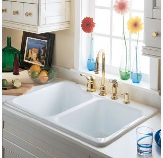 American Standard 7145 001 345 Bisque Double Basin