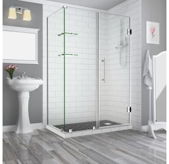 Aston Sen962ez Ss 642834 10 Stainless Steel Bromley Gs 72 High X 64 Wide X 34 Deep Hinged Frameless Shower Enclosure With 28 Door Width And Clear Glass Faucet Com