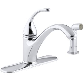 29d220702ac4e Kohler K-10412-CP Polished Chrome Single Handle Kitchen Faucet with Side  Spray from the Forte Collection - Faucet.com