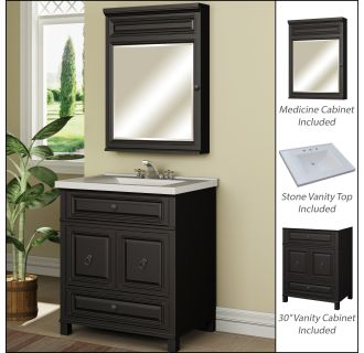 "miseno mvbh30com antique espresso 30"" bathroom vanity set - cabinet 30 Vanity Cabinet"