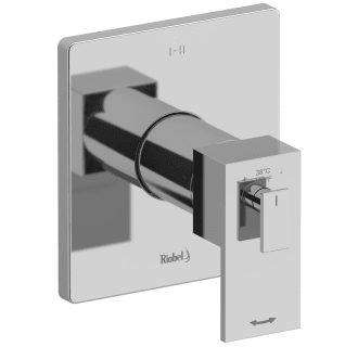 Riobel Tus23c Chrome Kubik Dual Function Thermostatic Valve Trim Only With Single Lever Handle And Integrated Diverter Less Rough In Faucet Com