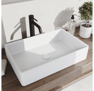 Vigo Vgt1450 Matte Black Magnolia 21 1 4 Matte Stone Vessel Bathroom Sink With 1 2 Gpm Deck Mounted Bathroom Faucet And Pop Up Drain Assembly Faucet Com