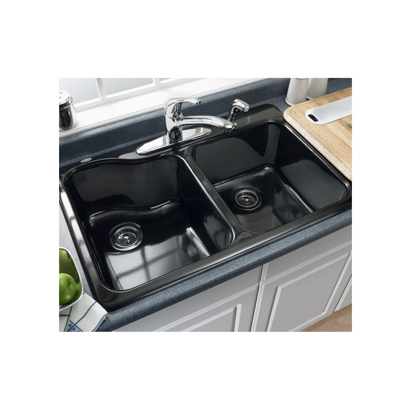 American Standard 7145.001.345 Bisque Double Basin Americast ...