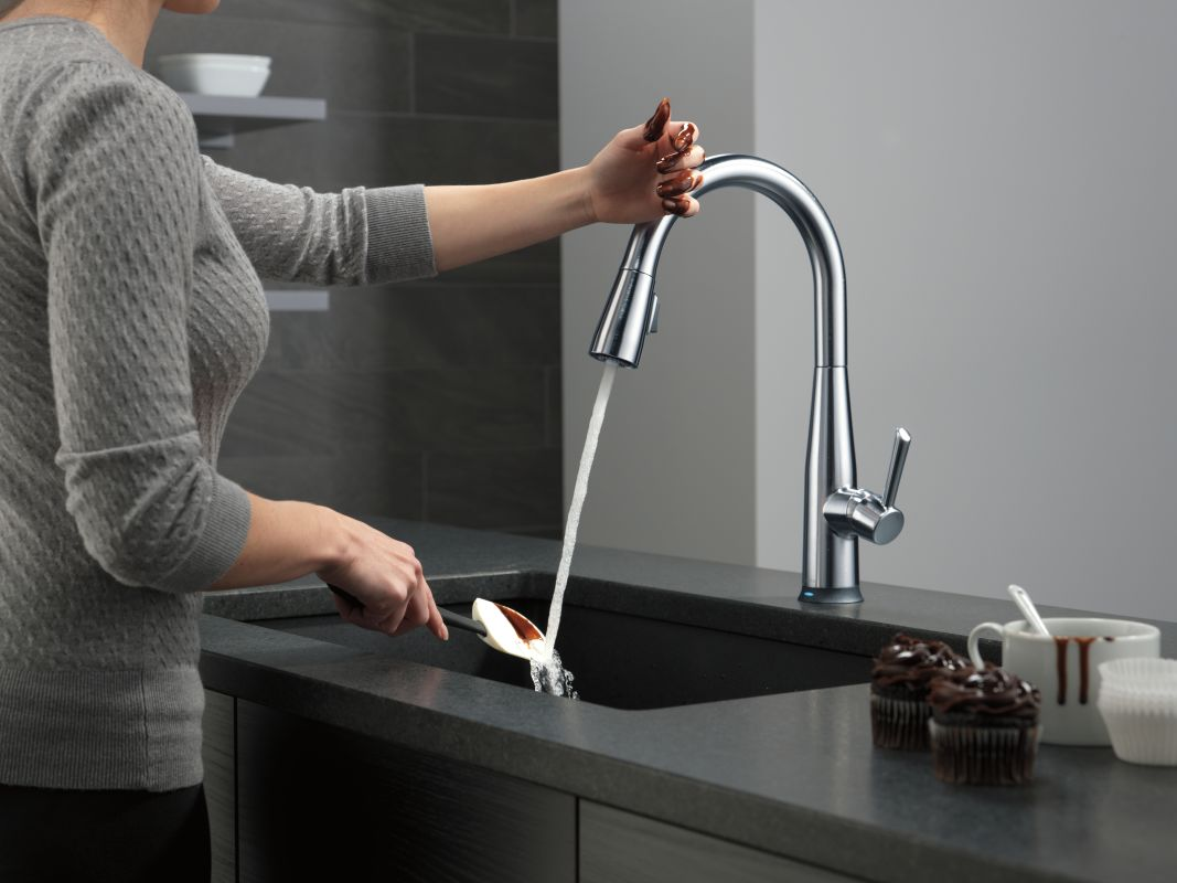 Faucet Com 9113t Ar Dst In Arctic Stainless By Delta