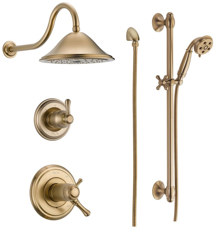 Faucet.com | DSS-Cassidy-17T01CZ in Champagne Bronze by Delta
