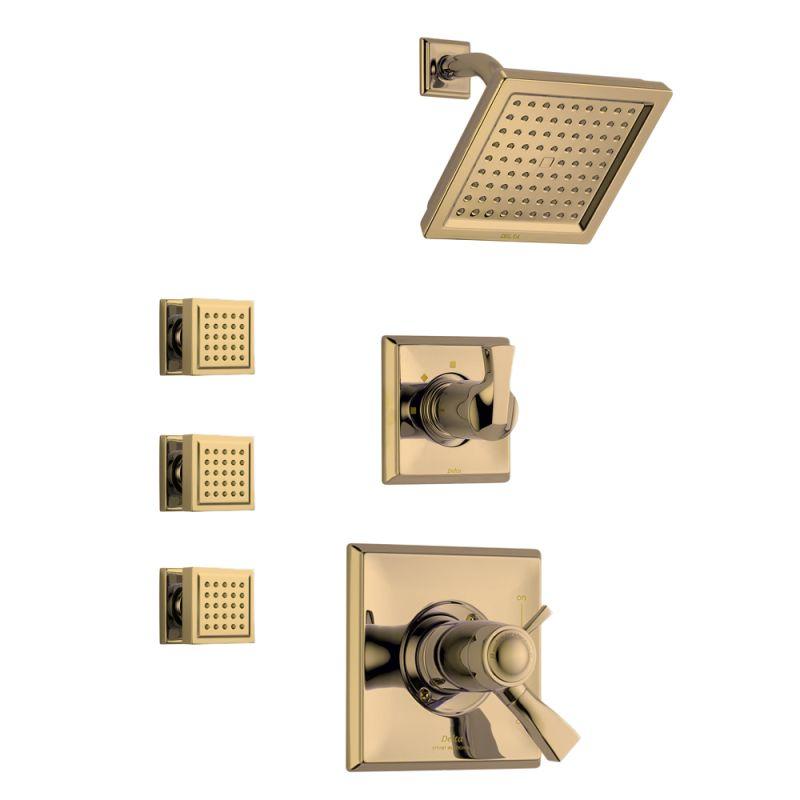 Faucet.com | Dryden TempAssure Shower Package CZ In Champagne Bronze By  Delta