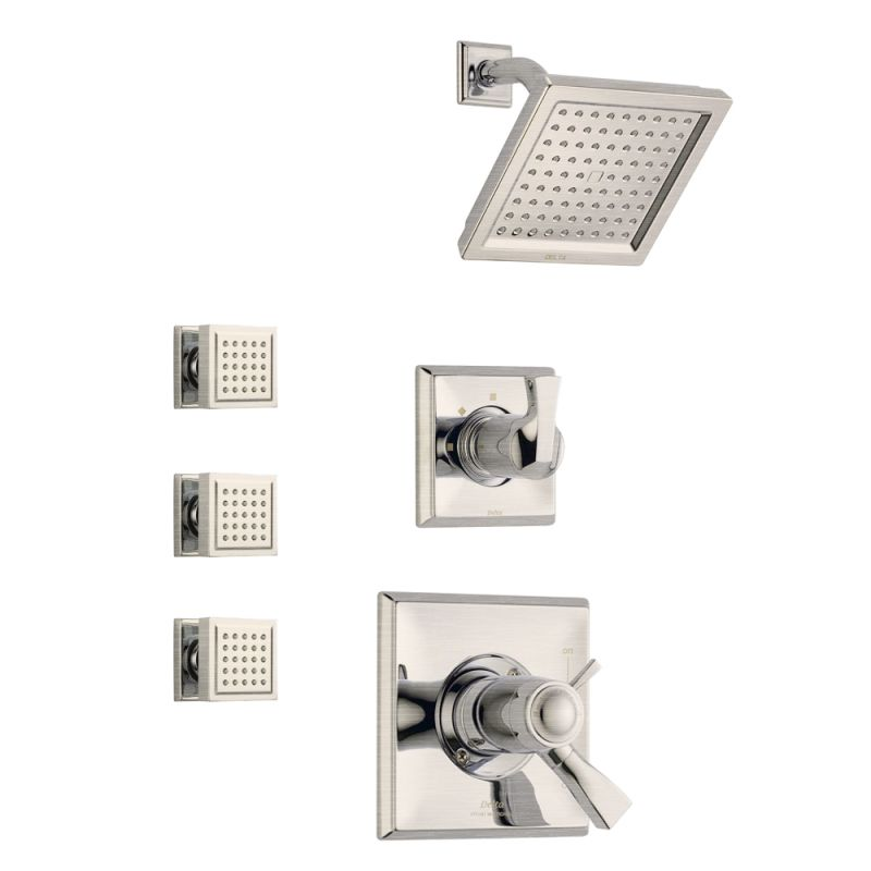 faucetcom dryden tempassure shower package ss in brilliance stainless by delta