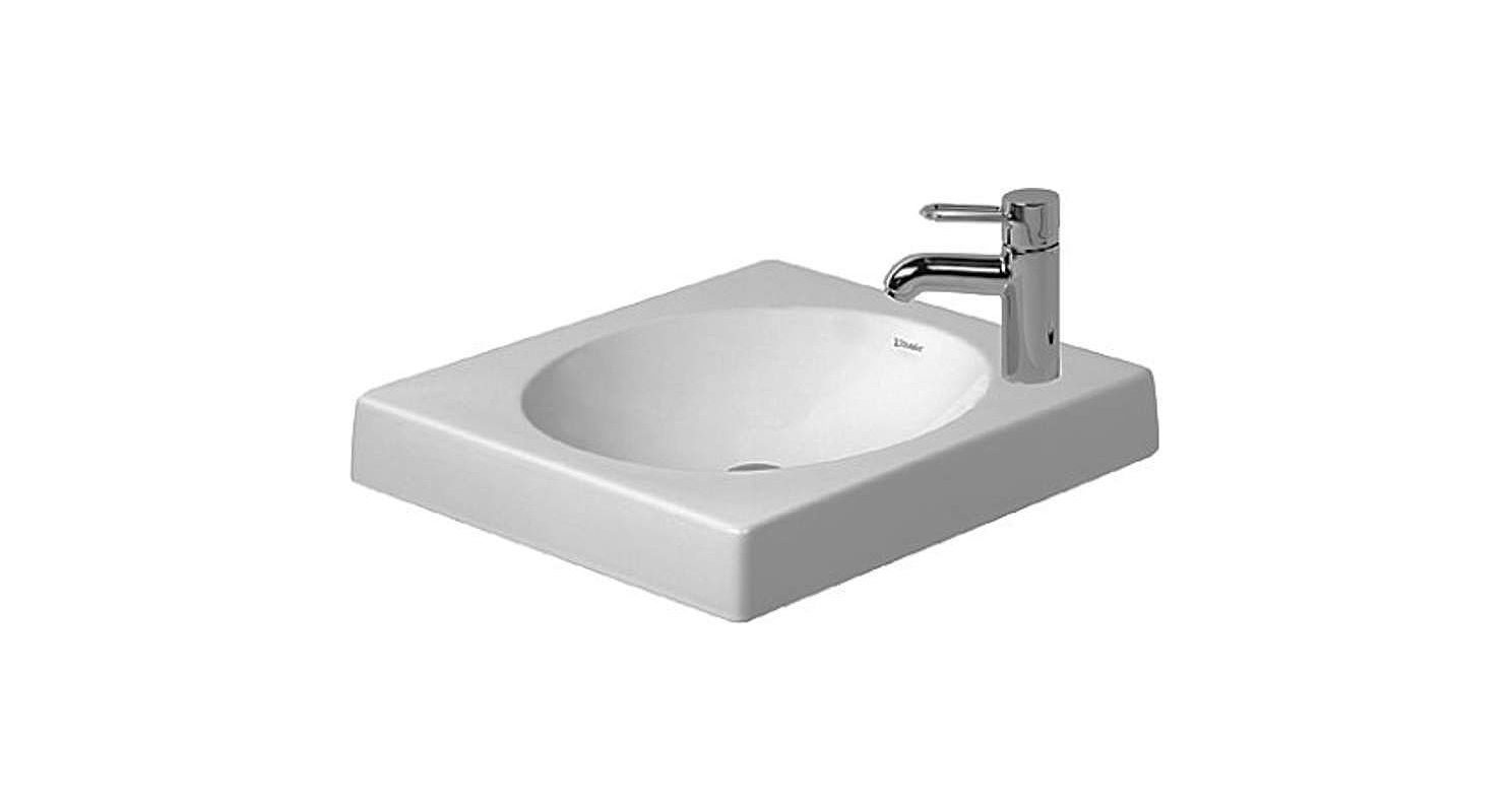 Bathroom Sink 500 X 400 faucet | 0320500009 in whiteduravit