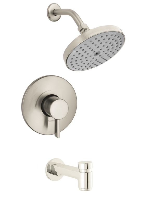 brushed nickel shower faucet set.  Faucet com in Brushed Nickel by Hansgrohe