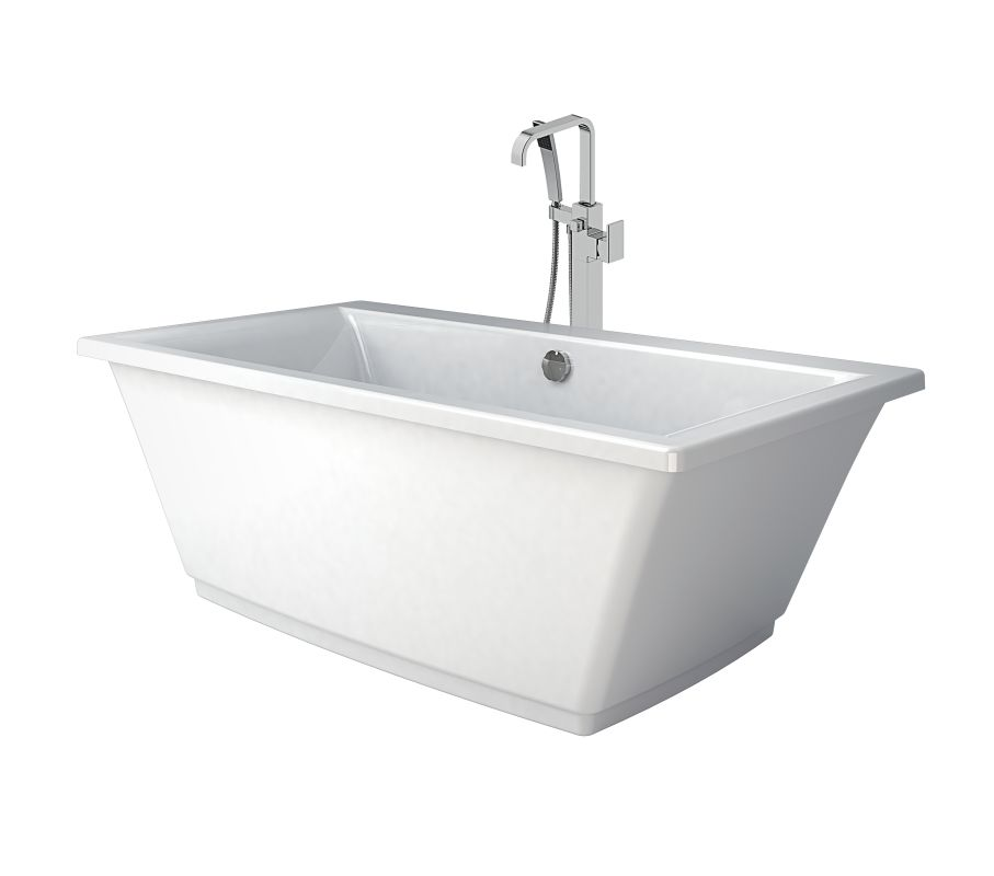 Faucet.com | HEB6232BCXXXXW in White / Chrome Tub Filler by Jacuzzi