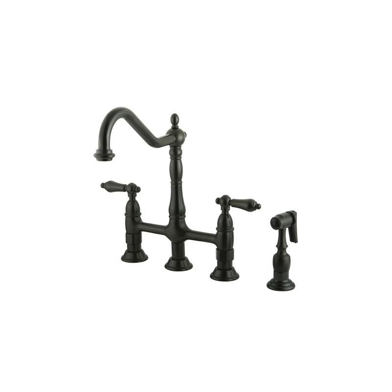 Bronze Kitchen Faucets faucet | ks1275albs in oil rubbed bronzekingston brass