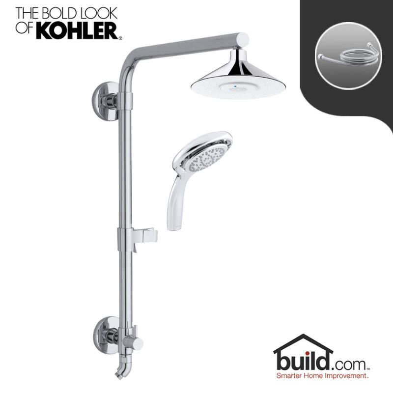 Faucet.com | HydroRail K 99105/K 17493 CP Package In Polished Chrome By  Kohler