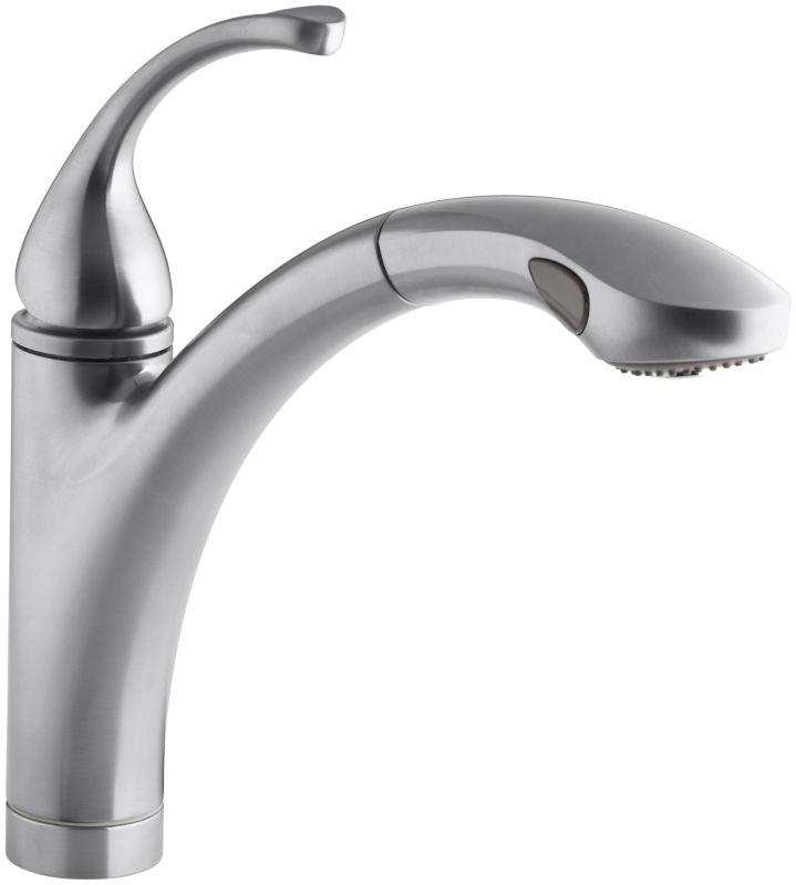 inspiration kohler forte bathroom.  Faucet com K 10433 VS in Vibrant Stainless by Kohler