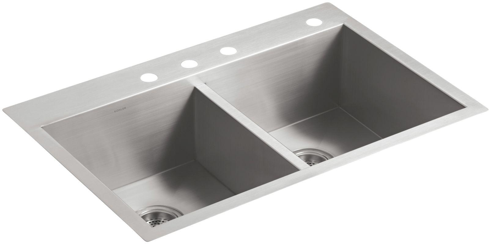 Kohler Stainless Steel Kitchen Sinks faucet | k-3820-4-na in stainlesskohler