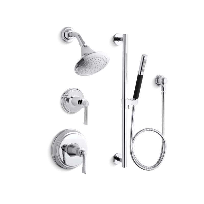 Faucet.com | K-ARCHER-RT11-4-CP in Polished Chrome by Kohler