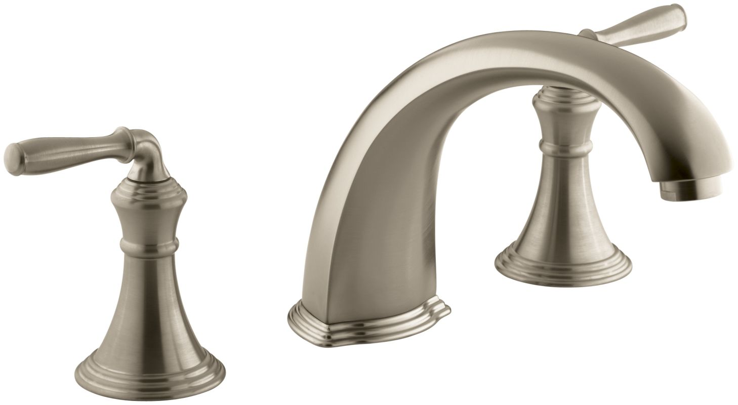 kohler roman tub faucet with hand shower.  Faucet com K T398 4 BV in Brushed Bronze by Kohler