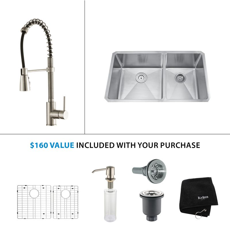 Faucet.com   KHU103 33 KPF1612 KSD30CH In Stainless Steel / Chrome By Kraus