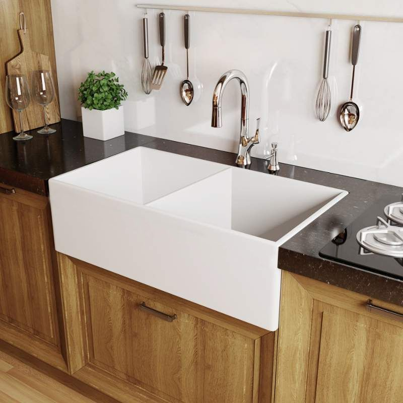 double kitchen sinks for sale faucet mno3320fc in white by miseno 8810