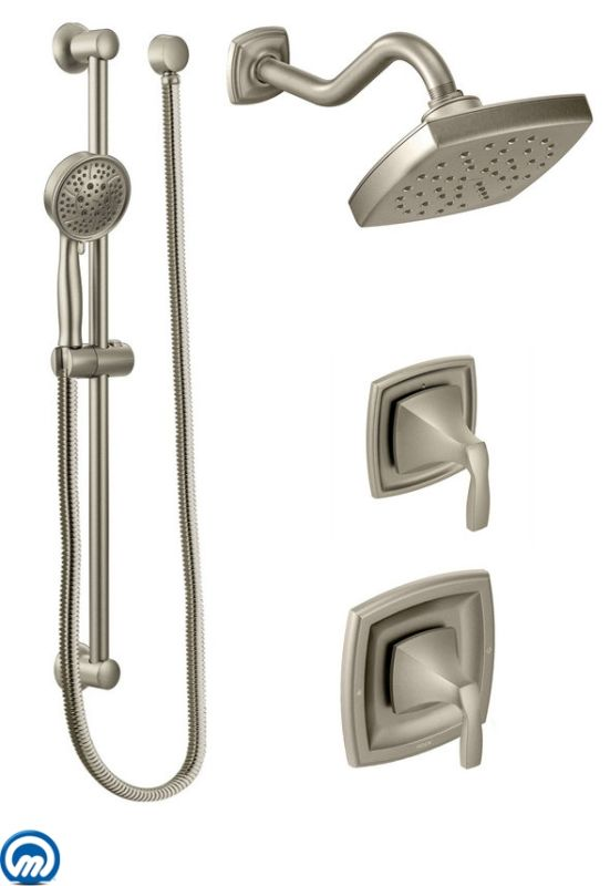 Faucet Com 435BN In Brushed Nickel By Moen. Square Rain Shower ...