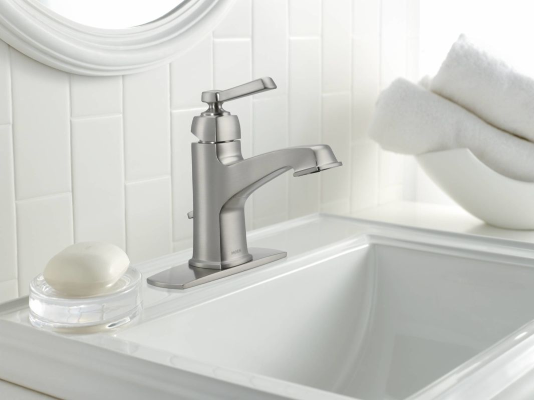 Prime Moen 84805 Chrome Single Handle Single Hole Bathroom Faucet Interior Design Ideas Inesswwsoteloinfo