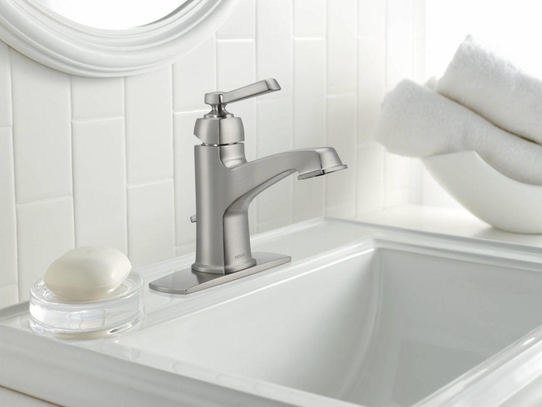 Superb Moen 84805 Chrome Single Handle Single Hole Bathroom Faucet Download Free Architecture Designs Momecebritishbridgeorg