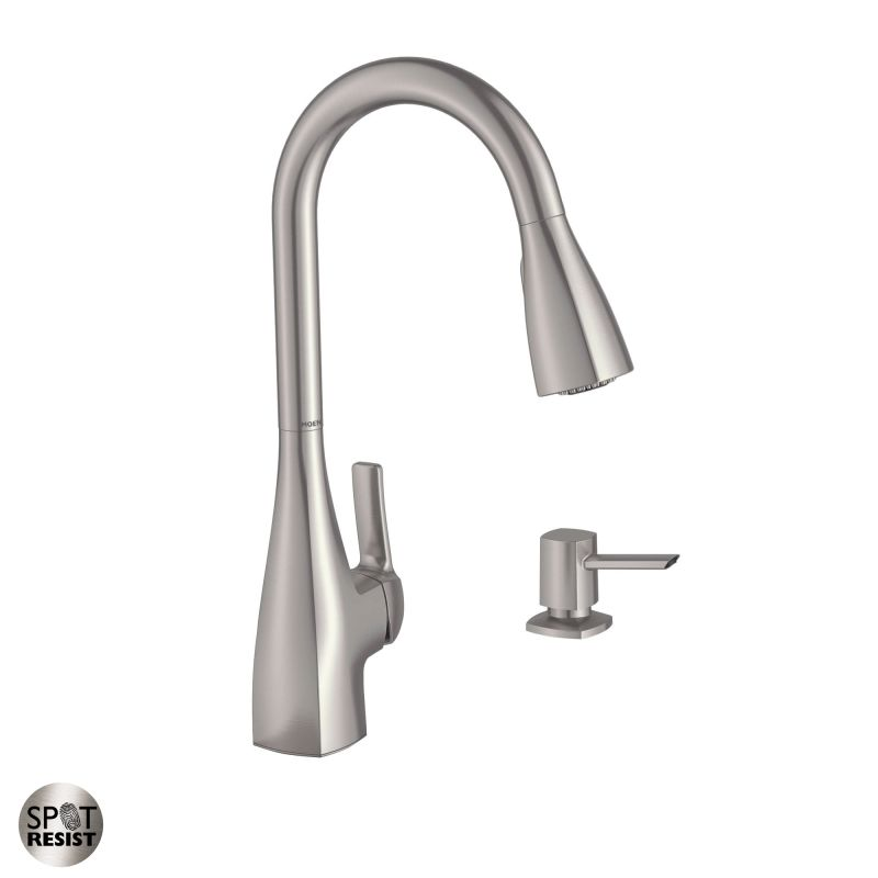 Faucet 87599srs In Spot Resist Stainless By Moenrhfaucet: Kitchen Faucets With Pull Down Sprayer Stainles... At Home Improvement Advice