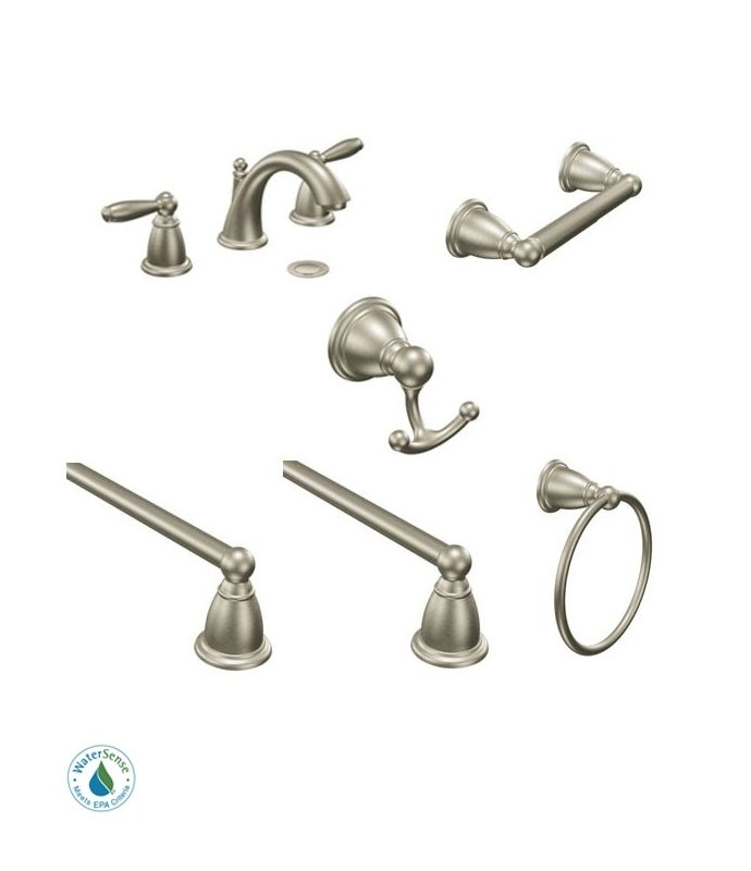 Faucet Brantford And Accessory Bundle 4bn In Brushed Nickel By Moen