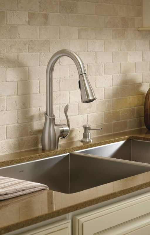 Moen CA87006CSL Classic Stainless Kitchen Faucet with ...