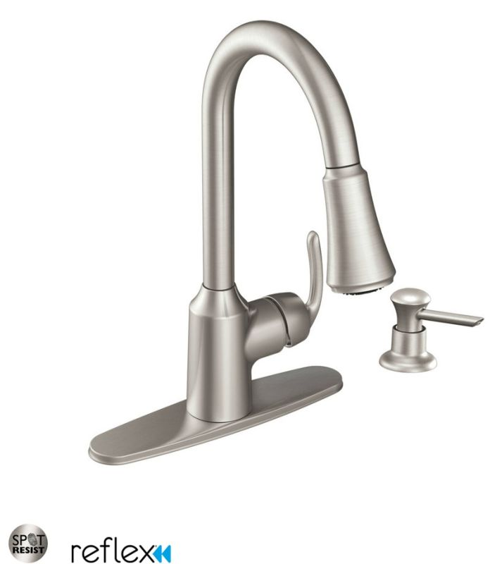 Moen Kitchen Pullout Faucets faucet | ca87094srs in spot resist stainlessmoen