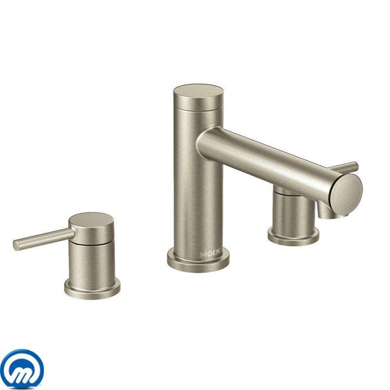 moen roman tub faucet brushed nickel.  Faucet com T393BN in Brushed Nickel by Moen