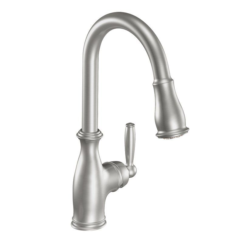 moen brantford kitchen faucet faucet 7185c in chrome by moen 20810