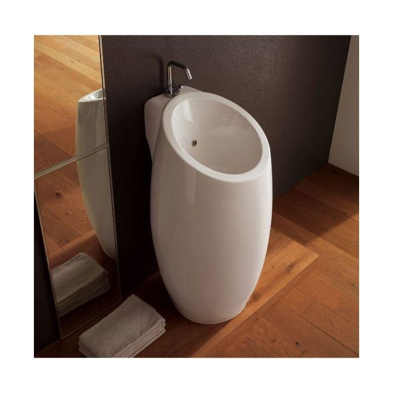 . Faucet com   Scarabeo 8104 One Hole in White   One Hole by Nameeks