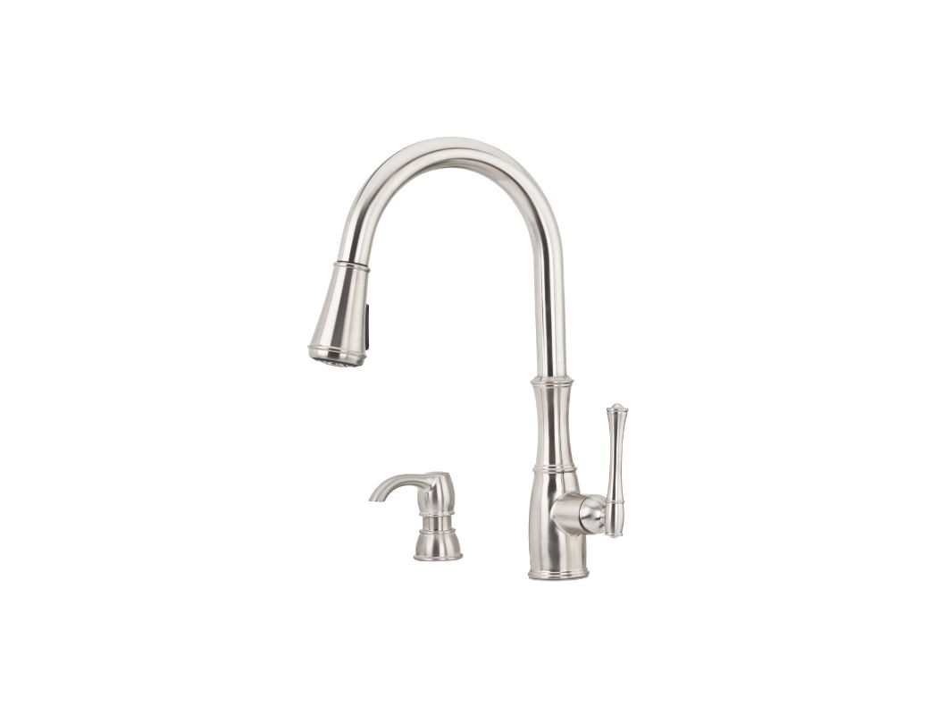 Pfister Kitchen Faucet Faucetcom F 529 7whs In Stainless Steel By Pfister
