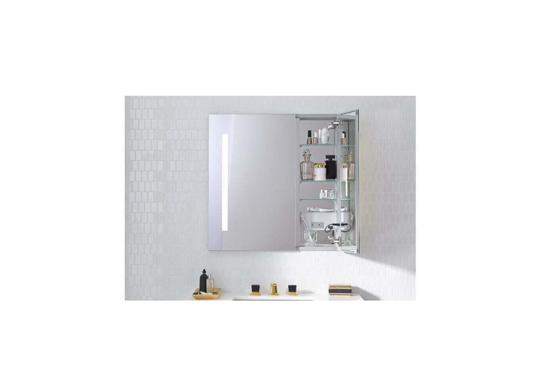 30 X 30 Medicine Cabinet Faucetcom Ac3030d4p2l In Mirrored By Robern