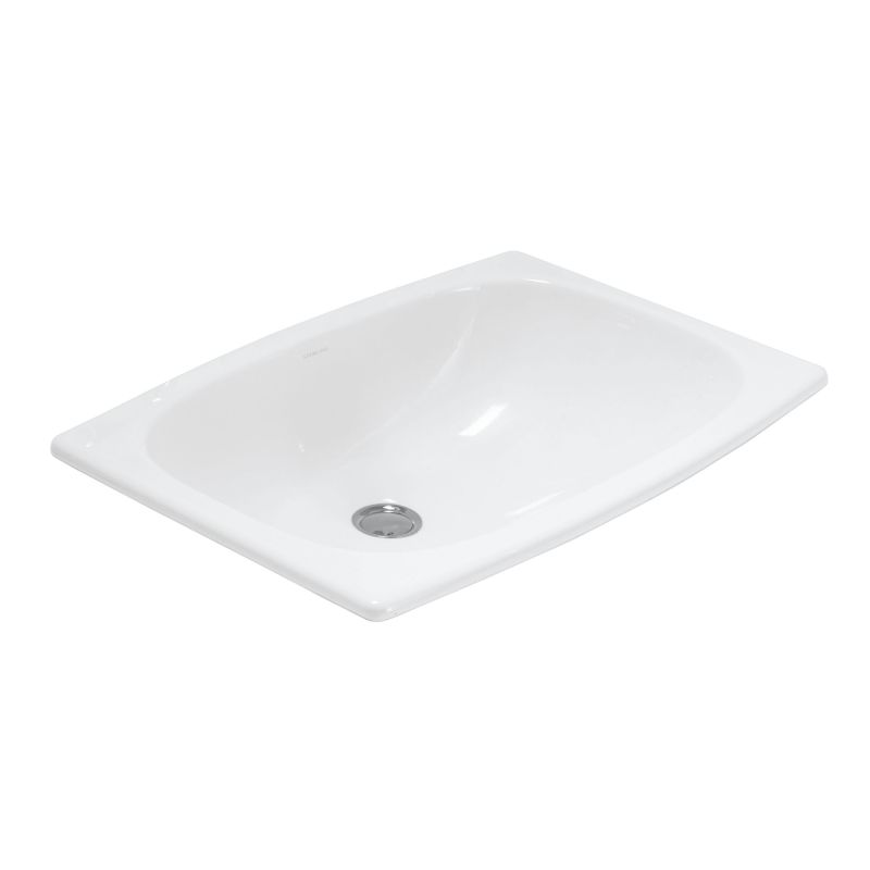 Bathroom Sinks Rectangular Drop In faucet | 442007-0 in whitesterling