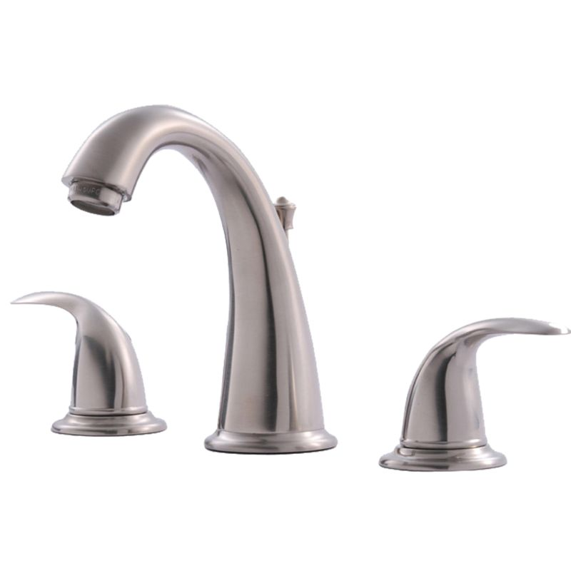 Widespread Bathroom Faucet Clearance : Faucets 1571-0361 Brushed Nickel Vantage Widespread Lavatory Faucet ...
