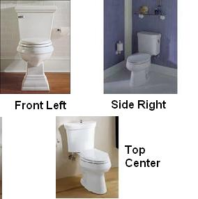 most residential and commercial toilets have the lever placement on the front left this is considered the plumbing standard