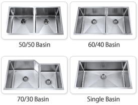 Kraus Kitchen Sinks Are Available As A Single Large Basin Or With Two  Basins. Double Basin Kitchen Sinks Are Available As A 50/50 Split Or As  60/40 Or 70/30 ...