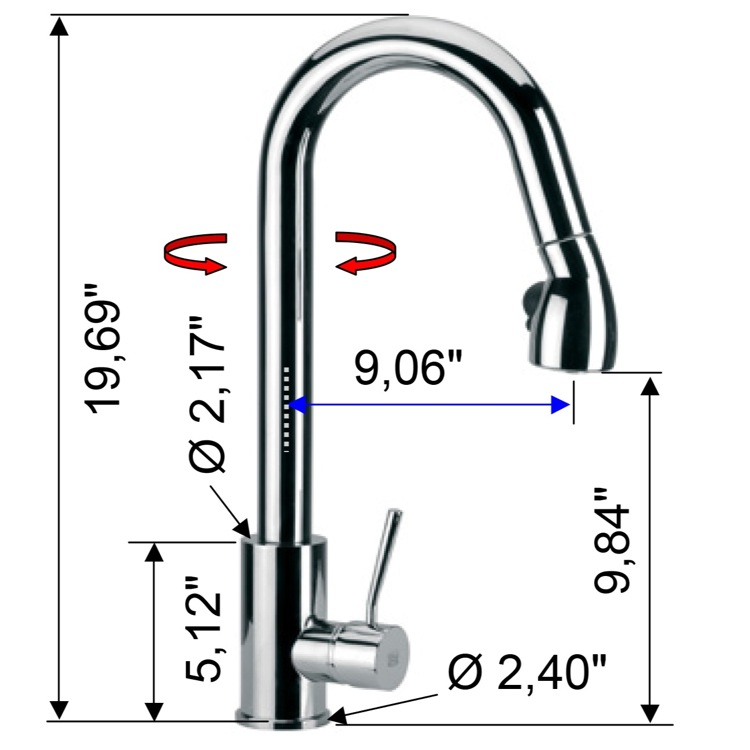 Kitchen Faucet  Hole  Gallons Per Minute Flow Rate