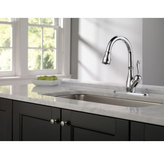 Delta-9178-DST-Installed Faucet in Chrome