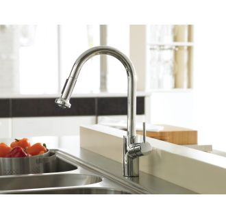Hansgrohe-14877-Installed Faucet in Chrome
