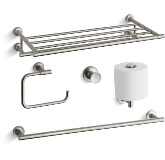 Kohler Purist Best Accessory Pack Bn Brushed Nickel 24 Towel Rack Bar Ring Tissue Holder And Robe Hook Faucetdirect