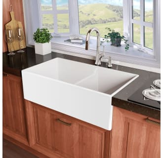 60 40 Kitchen Sink Miseno mno3320afc white inferno 33 double basin reversible miseno mno3320afc white inferno 33 double basin reversible farmhouse fireclay kitchen sink with 6040 split faucetdirect workwithnaturefo